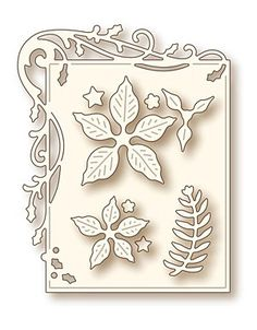 Wild Rose Studio Specialty Die Holly Frame And Poinsettia