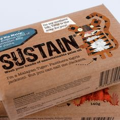 Designed by Treasure , United Kingdom.   Sustain is a soap made from 100% sustainable palm oil. Other bars that use unsustainable palm oil...