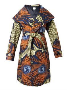 Lidia peacock feather-print coat | Stella Jean | MATCHESFASHIO...