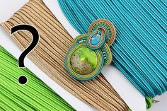 Zawieszka z sutaszu greckiego. Nowy rodzaj sznurka sutasz dostępny jest w 63 kolorach + 8 sznurków metalizowanych Swarovski, Stone, Jewelry, Rock, Jewlery, Jewerly, Schmuck, Stones, Jewels