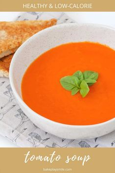 A hearty vegetable-packed winter tomato soup recipe that makes a healthy and delicious midweek meal... have it on the table in 45 minutes! #tomato #soup #healthy #thermomix #conventional #winter Healthy Tomato Soup Recipe, Best Tomato Soup, Tomato Soup Recipes, Vegetable Soup Recipes, Family Meals, Kids Meals, Family Recipes, Soups For Kids, Midweek Meals