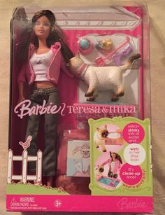 NEW in Box Mattel Barbie Brown Hair TERESA & MIKA The Siamese Cat #Mattel #DollswithClothingAccessories