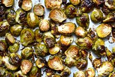 Oven Roasted Brussels Sprouts Recipe - A food and wellness site by Ashley Gilday