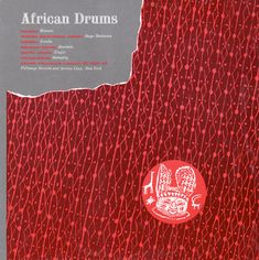 1954 African Drums (and Afro-American Drums) [Folkways FE-4502] cover artwork…