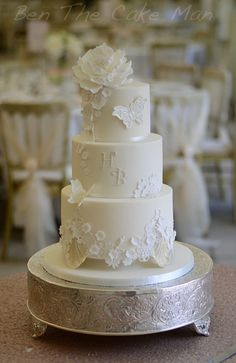 Wedding Cakes : Picture Description Featured Cake: Ben the Cake Man; Round Wedding Cakes, Floral Wedding Cakes, Amazing Wedding Cakes, White Wedding Cakes, Elegant Wedding Cakes, Wedding Cake Designs, Lace Wedding, Wedding Sand, White Cakes