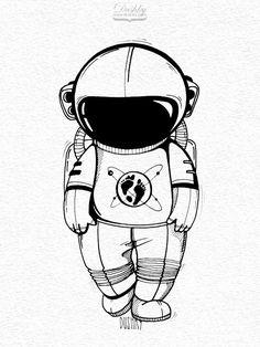 sticker design by #dushky for #umanshop | #illustration #marker #sticker #design #space #universe #astronaut #helmet #explorer #spaceman #cosmonaut