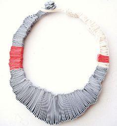 bijoux en textile, bijoux en tissu