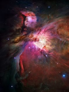The unthinkably vast beauty of the Orion Nebula. Gorgeous color