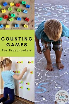 Numbers Activities for Kids- How Wee Learn, , Fun number and counting games for preschoolers! These are great hands on play ideas for toddlers and preschoolers that are full of learning. Counting Activities For Preschoolers, Summer Activities For Toddlers, Counting Games, Fun Games For Kids, Preschool Games, Math Activities, Kids Fun, Family Activities, Toddler Activities