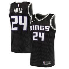 8e88ccefb Nike Kings  24 Buddy Hield Black NBA Swingman Statement Edition Jersey