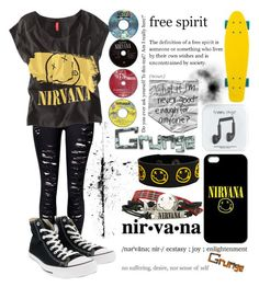 """""""Nirvana"""" by musiclover135 ❤ liked on Polyvore featuring WithChic, Chicnova Fashion, Converse and J.Crew"""
