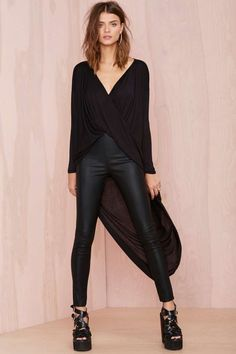 Drama Queen Top - Black | Shop Clothes at Nasty Gal