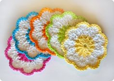 Crochet coasters...cute!