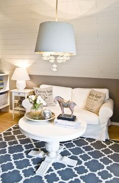 DIY- Stenciled Rug- Easy project that can make a big difference in a room.