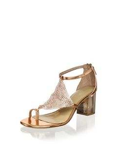 63% OFF Lola Cruz Women's Mid Heel Sandal (Cobre)