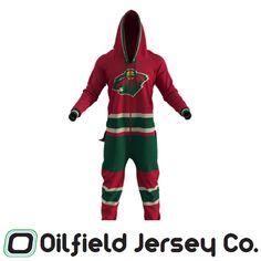 half off a9420 46f7d Hockey Sockey Onesie - Minnesota Wild. Oilfield Jersey Co.