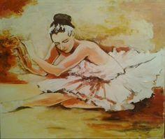 Dying Odetta , acryl on canvas, 110x130