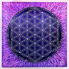 flower of life by Art of Sacred Geometry (in the Temple of Pluto) Reiki, Divine Proportion, The Violet, Ancient Symbols, Sacred Art, Flower Of Life, Shades Of Purple, Fractal Art, Love And Light
