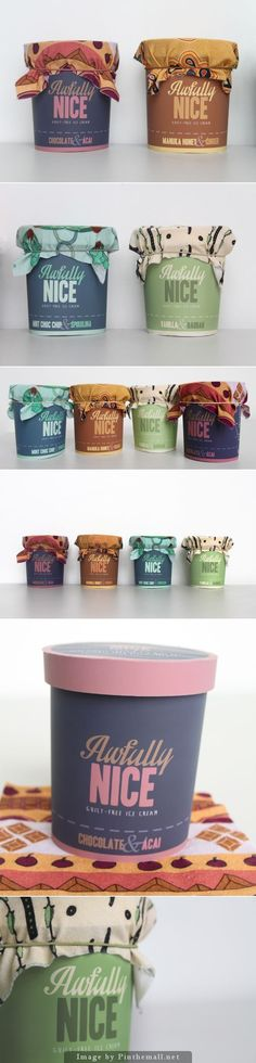 Awfully Nice Ice Cream by Calum Middleton | Packaging design inspiration