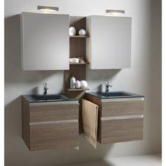 Meuble de salle de bains Absolu II, chêne gris | Leroy Merlin