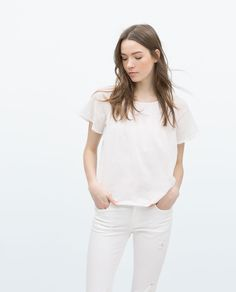 ZARA - NEW THIS WEEK - BLOUSE WITH RUFFLE SLEEVES