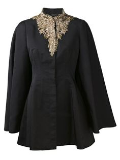 ALEXANDER MCQUEEN Embroidered Evening Cape