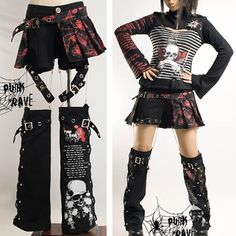 I AM IN LOVE WITH THIS! 3 Piece Punk Rave Emo Scene Fashion Clothing Shorts & Leg Warmers