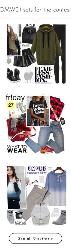 """""""ROMWE ( sets for the contests)"""" by ansev ❤ liked on Polyvore featuring romwe, Topshop, Madewell, Asics, shoptilyoudrop, It Cosmetics, Puma, AG Adriano Goldschmied, Rebecca Minkoff and Chanel"""