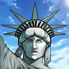 how to draw statue of liberty face