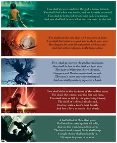 Day 13: Favorite Prophecy None because they all make me cry! But if I have to choose, it's the one from Battle of the Labyrinth. It's my favorite because of the ghost king line and how it showed that everyone is always depending on Percy but in reality Percy is beyond screwed without Nico, and he still doesn't get that.