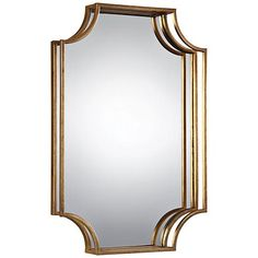 "Uttermost Lindee Gold Leaf 29 3/4"" x 20"" 3D Wall Mirror"