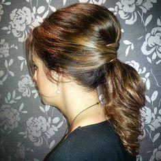hairbeautyquarter Elegant & stylish ponytail by Marta #ponytail #hotd #upstyle #hair #hairstyle #brunette #chic #stylish #bridalhair