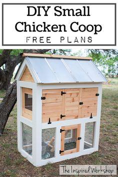 DIY Small Chicken Coop - Free Plans