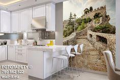 Fototapeta schody, kamienna uliczka 3D do białej kuchni, wzór nr Su49 © Copyright Wall-it  #fototapety #fototapeta #uliczka #uliczki #schody #mural #wallpaper #kitchen #kuchnia