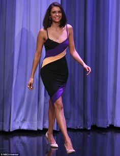 Fun work! On Tuesday, Nina Dobrev, 28, stopped by The Tonight Show to chat it up with host Jimmy Fallon