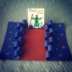 Moses and the Red Sea! Looks like a fun rainy day craft if we've ever seen one!