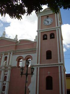 Campanario de la catedral de nuestra señora del Pilar, Barinas, Venezuela.