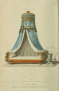 1809 - Canapé-lit de l& Ackermann. Un autre excellent exemple à Napoléon . Vintage Furniture Design, Furniture Styles, Furniture Buyers, Luxury Furniture, Regency House, Regency Era, Regency Furniture, Antique Furniture, Georgian Furniture