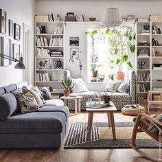 Leseecke/Sofa mit Aussicht. #Wohnzimmer #BILLY #VALLENTUNA #Sofa #LISABO #meinIKEA