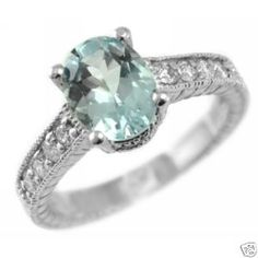 in love with aquamarine rings!