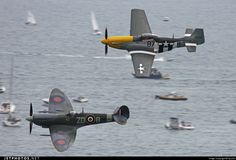 Spitfire & Mustang - together with the Lancaster, the Merlin engine's most celebrated installations.
