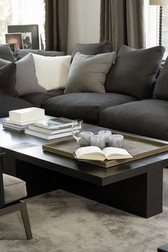 Easy and fun living room decor and styles - Are you re-decorating your living room? Find living room accessories and give the room a boost of style. Check the webpage to learn more. Simple Living Room, Beautiful Living Rooms, Home And Living, Gray Interior, Decor Interior Design, Interior Work, Interior Styling, Living Room Furniture, Living Room Decor