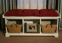 Entryway Storage Bench by SophisticatedCountry on Etsy, $350.00
