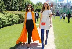 Street style at the 15/16 Dior show.