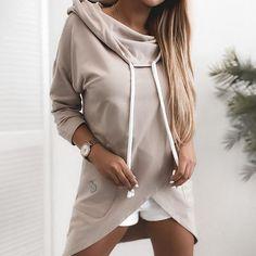 Hooded Jacket, Bomber Jacket, Long Hoodie, Hoodies, Sweatshirts, Women's Dresses, Sleeve Styles, Fashion Accessories, Plus Size