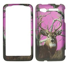 Buy 2D Pink Camo Buck Deer Pine HTC Merge / Lexikon ADR6325 Verizon Wireless, U. S. Cellular Case Cover Hard Protector Phone Cover Snap on Case Faceplates NEW for 9.99 USD | Reusell