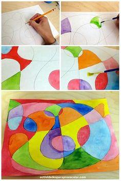 Dibujar arte abstracto Más Kids Art Class, Art For Kids, Drawing For Kids, Painting For Kids, 3rd Grade Art, Middle School Art, Collaborative Art, Art Classroom, Art Club