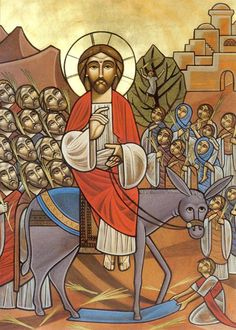 Palm Sunday #Coptic Icon #Orthodox