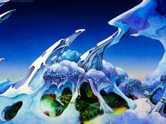 The paintings of Roger Dean ruled my high school years. And yes, I loved all of his Yes album covers.