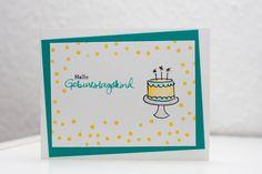 Danielas Welt: Geburtstagskarte mit Geldeinsteckfach #Geburtstags...
